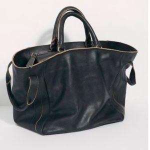 New Free People Leslie Leather Tote Bag- B…